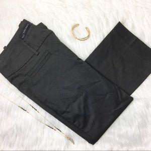 Zara Pants - Zara Basic Cotton Blend Charcoal Trousers